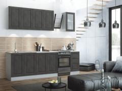 Кухня Капри 2,0 МДФ камень светлый-камень темный