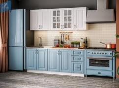 Кухня Классика Кантри 2,0 Белое дерево / Риалвуд скай