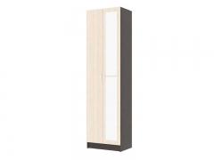 Шкаф 2-створчатый с зеркалом Вега ШК-2 венге-дуб беленый